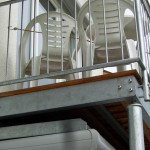 Balkon stahlverzinkt mit Echtholzboden