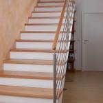 Gerade Treppe Buche, Stufen und Handlauf