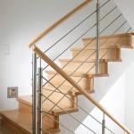 Stufen Buche mit Setzstufen und Relinggeländer