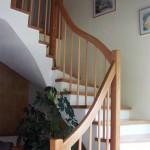 Stufen in Eiche Geländer mit Eckpfostengeländer, Verzug ohne Untergurt