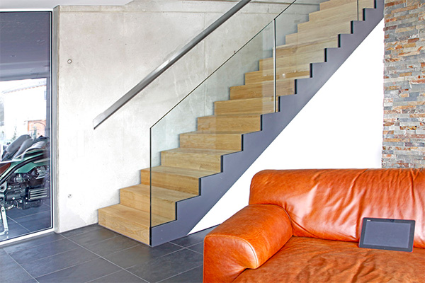gerade treppe als faltwerktreppe kliegl treppenbau. Black Bedroom Furniture Sets. Home Design Ideas